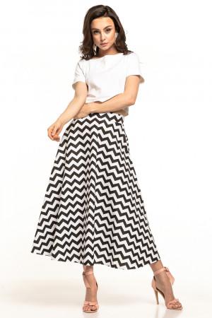 Dámská sukně T313 - Tessita černá - bílá S-36