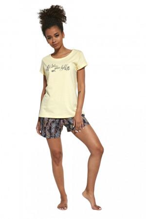Dámské pyžamo 665/245 Shine - CORNETTE žlutá