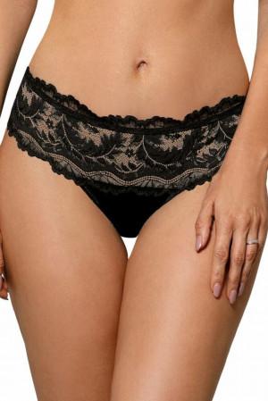 Krajkové nohavičkové kalhotky Sefia černé černá