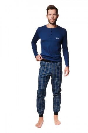 Pánské pyžamo MAX 39239 DENIM-KRATA 2XL