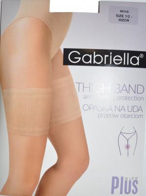Dámské pásky na stehna 511 vzorované - Gabriella béžový 5-6