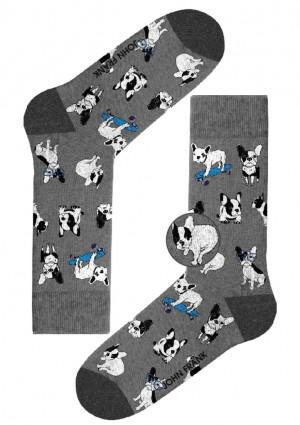 Pánské ponožky John Frank JFLSFUN71 UNI Šedá
