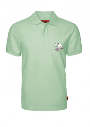 Pánské tričko John Frank JFTPOLO13-DOG L Peprmint
