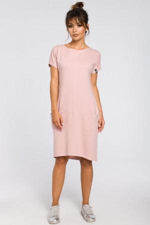 Denní šaty B050 - BeWear Práškově růžová M-38