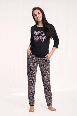 Dámské pyžamo Luna 565 3/4 3XL cappuccino 3XL