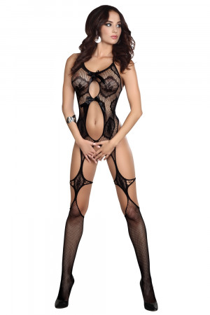 Bodystocking Esmeralda - LivCo CORSETTI FASHION černá S/L