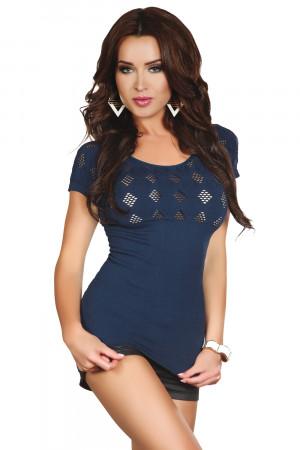 Dámské tričko Gabrielle - LivCo CORSETTI FASHION modrá S/M