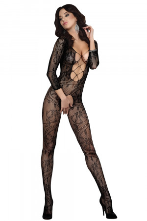 Bodystocking Zita black XXL - LivCo CORSETTI FASHION černá XL/XXL