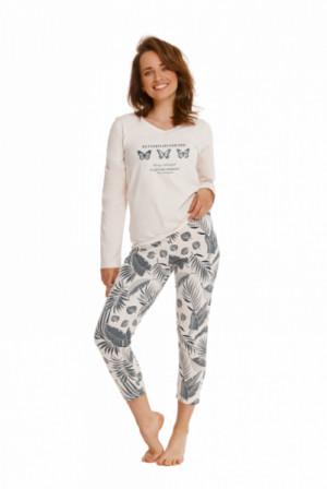 Taro Omena 2559 Z'22 Dámské pyžamo S světle béžová