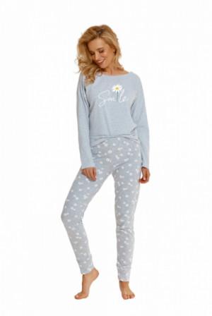 Taro Nicole 2572 Z'22 Dámské pyžamo S grafitový melanž