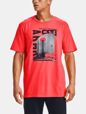 Under Armour červené pánské tričko UA BASKETBALL PHOTOREAL