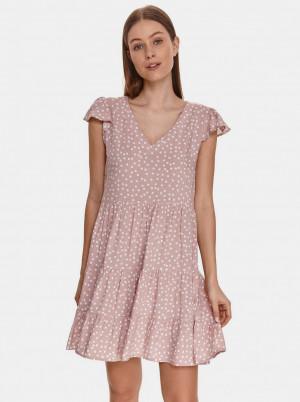 TOP SECRET růžové puntíkované šaty