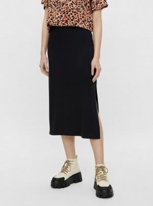 Pieces černá midi sukně Tamara