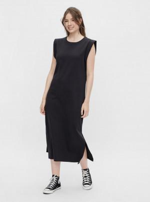 Pieces černé šaty Temmo