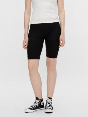 Pieces černé krátké legíny Taya Biker shorts