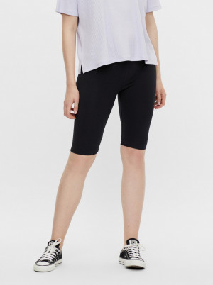 Pieces černé krátké legíny Tabbi Biker shorts