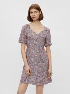 Pieces barevné květované šaty Timberly