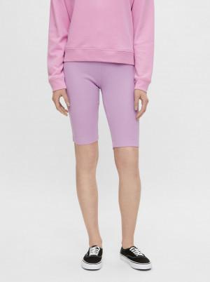 Pieces fialové krátké legíny Taya Biker shorts