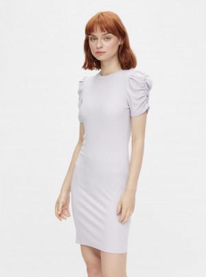 Pieces světle fialové pouzdrové šaty Lunna