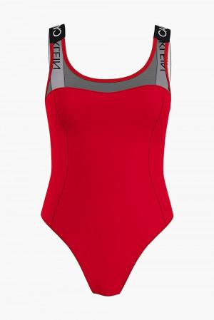 Calvin Klein červené jednodílné plavky Scoop Back One Piece-RP