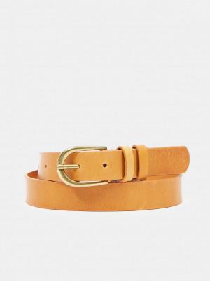 Pieces hnědý kožený pásek -