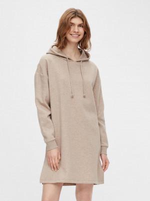 Pieces béžové mikinové šaty Chilli