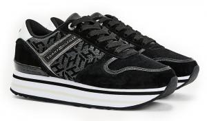 Tommy Hilfiger černé tenisky na platformě Metallic Flatform Sneaker -