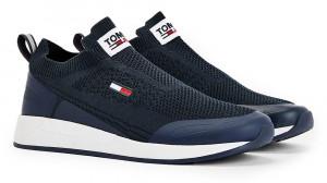 Tommy Hilfiger modré pánské tenisky Tommy Jeans Flexi Sock Runner -