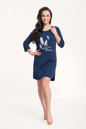 Dámská noční košile 012 BIG námořnická modrá 3XL