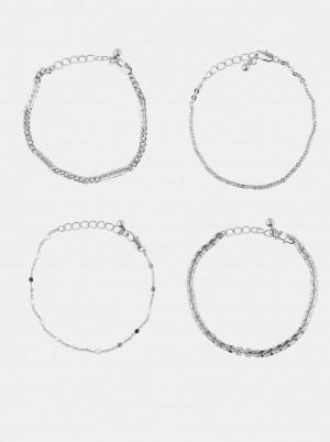 Pieces stříbrná sada 4 náramků Tona