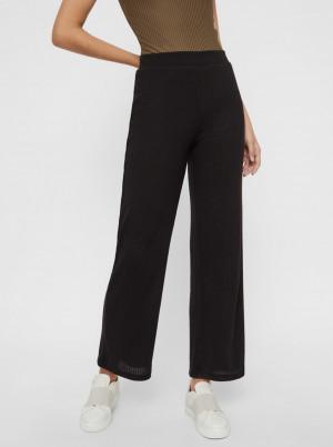 Pieces černé kalhoty Molly