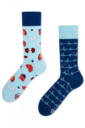 Many Mornings modré ponožky DR Sock - 35-38