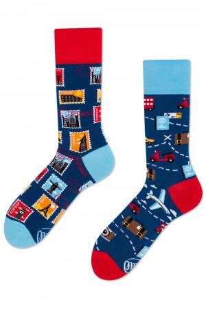 Many Mornings modré ponožky The Traveler - 35-38