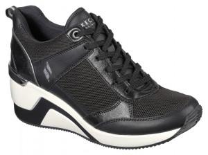 Skechers černé tenisky na platformě Million Air Up There Black -