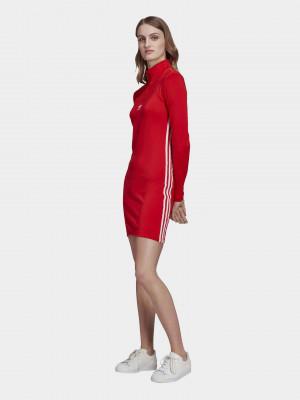 Šaty adidas Originals Červená