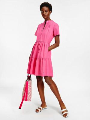 Šaty Tommy Hilfiger Růžová