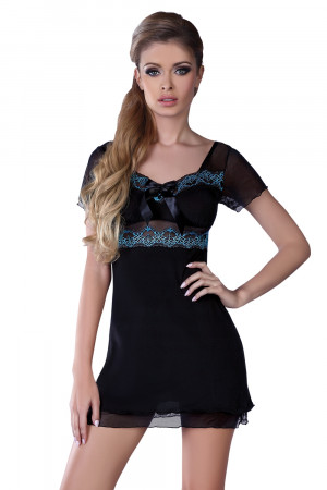 Dámská košilka Basimah - LivCo CORSETTI FASHION černá L/XL