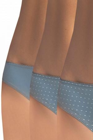 3 pack bavlněných kalhotek 103 MB Indigo 2 modrá