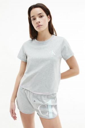 Calvin Klein šedé pyžamo S/S Short set