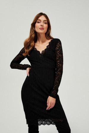 Moodo černé šaty s krajkou