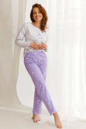 Dámské pyžamo Livia 2575 - Taro šedá-fialová