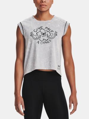 Under Armour dámské tričko UA Give Pace A Chance SS-GRY