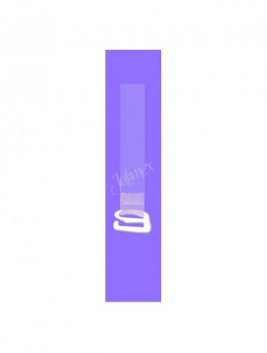 Silikonová ramínka RT 102 12 mm - Julimex průhledná-bílá 12 mm