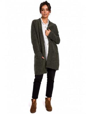 Dámský cardigan BK034 pletený svetr - BEwear tmavě šedá L/XL