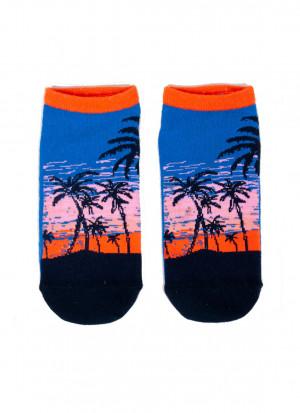 Pánské ponožky SK-86 Spoksy - YOJ modrá s oranžovou 39-42