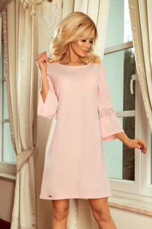 Dámské šaty 190-1 MARGARET - Numoco světle růžová