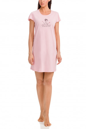Dámská noční košile 12379 - Vamp růžová-potisk S-36
