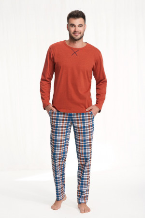 Pánské pyžamo Luna 700 dł/r 3XL modrý 3XL