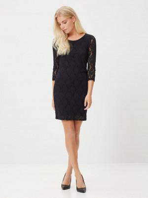Vero Moda černé pouzdrové šaty s krajkou