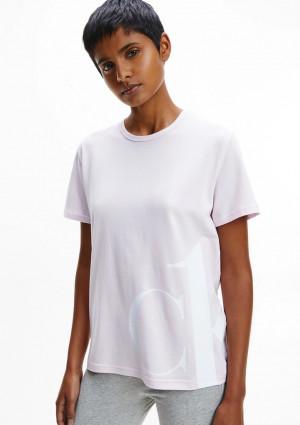 Dámské tričko Calvin Klein QS6487 L Sv. růžová